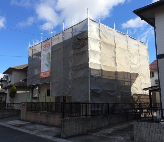 平成町M様邸 外壁屋根塗り替え工事 施工前